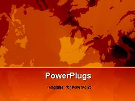 PowerPlugs: PowerPoint template with a short video of some abstract moving orange objects