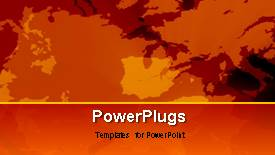 PowerPoint template displaying a short video of some abstract moving orange objects - widescreen format