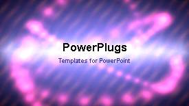 PowerPoint template displaying a short video of an abstract purple colored background - widescreen format