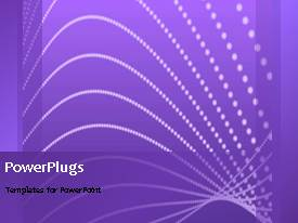 PowerPlugs: PowerPoint template with a short video of an abstract purple colored background with white lines