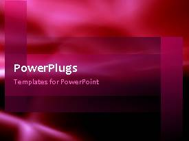 PowerPlugs: PowerPoint template with a short video of an abstract red colored  background
