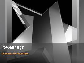 PowerPlugs: PowerPoint template with a short video of an abstract of a silver star rotating