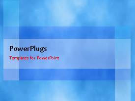 PowerPlugs: PowerPoint template with a short video of a blue background with patterns