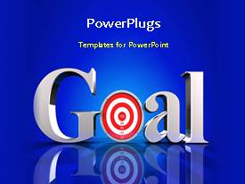 PowerPlugs: PowerPoint template with a short video of a dart hitting the middle of Goal text