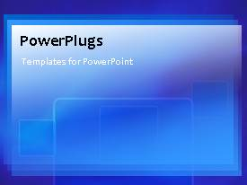 PowerPlugs: PowerPoint template with a short video of a plain blue and white background