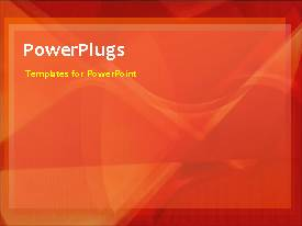 PowerPlugs: PowerPoint template with a short video of a plain orange background with some faint lines