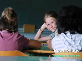 PowerPlugs: PowerPoint template with a short video of some school kids in a classroom