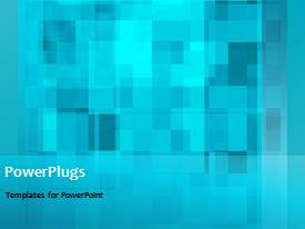 PowerPoint template displaying a short video showing an abstract of blue circuit