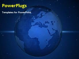 PowerPlugs: PowerPoint template with a short video showing an abstract of a blue sky