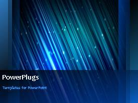 PowerPlugs: PowerPoint template with a short video showing an abstract of blue lines