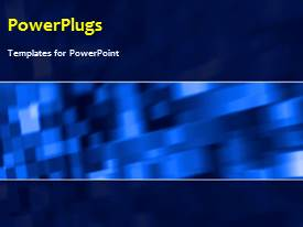 PowerPlugs: PowerPoint template with a short video showing an abstract of a blurry blue box patterns