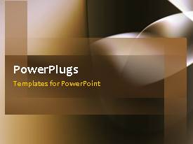 PowerPlugs: PowerPoint template with a short video showing an abstract of a brown background