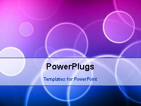 PowerPlugs: PowerPoint template with a short video showing an abstract of circular patterns