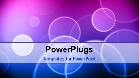 PowerPoint template displaying a short video showing an abstract of circular patterns - widescreen format