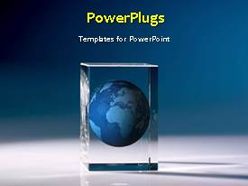 PowerPlugs: PowerPoint template with a short video showing an abstract of an earth globe in a glass