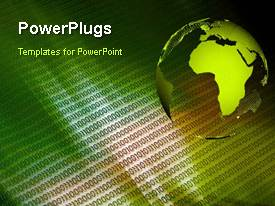 PowerPlugs: PowerPoint template with a short video showing an abstract of an earth globe