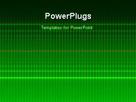 PowerPoint template displaying a short video showing an abstract of electric lines on a green background