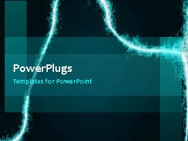 PowerPoint template displaying a short video showing an abstract of some electric lines