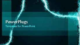 PowerPoint template displaying a short video showing an abstract of some electric lines - widescreen format