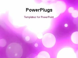 PowerPoint template displaying a short video showing an abstract of falling ligths