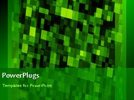 PowerPlugs: PowerPoint template with a short video showing an abstract of a green background