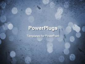 PowerPlugs: PowerPoint template with a short video showing an abstract of some light dots