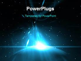 PowerPlugs: PowerPoint template with a short video showing an abstract of a light in space