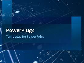 PowerPlugs: PowerPoint template with a short video showing an abstract of some lines on a blue background