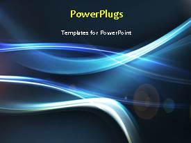 PowerPlugs: PowerPoint template with a short video showing an abstract of some lines