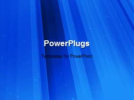 PowerPoint template displaying a short video showing an abstract of moving blue bars