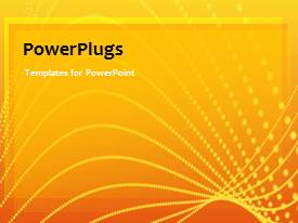PowerPlugs: PowerPoint template with a short video showing an abstract of patterns on an orange background