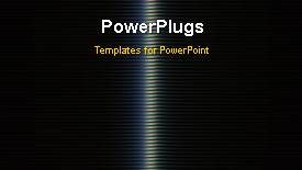 PowerPoint template displaying a short video showing an abstract of rotating lines - widescreen format