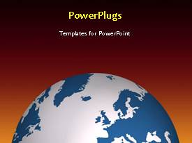 PowerPlugs: PowerPoint template with a short video showing some characters running on an earth globe