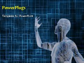 PowerPlugs: PowerPoint template with a short video showing a digital anatomy of a human figure