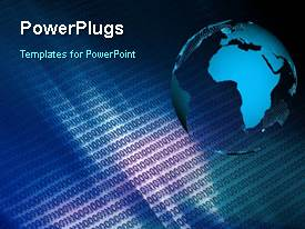 PowerPlugs: PowerPoint template with a short video showing an earth globe and some binary codes