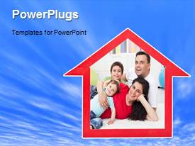 A PPT featuring a short video showing a family of four all happy in a home