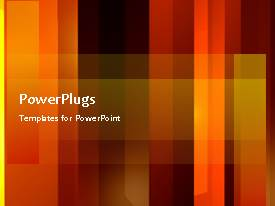 PowerPlugs: PowerPoint template with a short video of some thick brown, yellow and orange lines