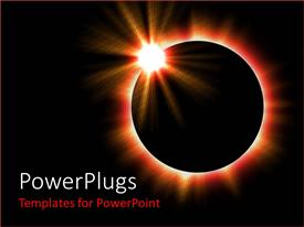 PowerPlugs: PowerPoint template with a shot of a complete solar eclipse in space