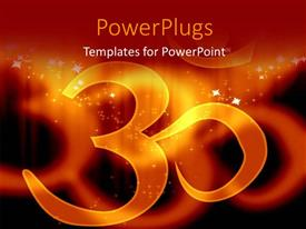 PowerPoint template displaying the sign of Hinduism and its reflection in background