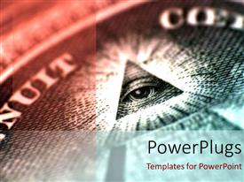 PowerPlugs: PowerPoint template with the sign of one eye with pyramid
