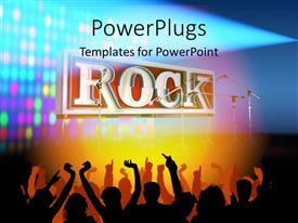 PowerPlugs: PowerPoint template with silhouette of people partying and dancing to rock music