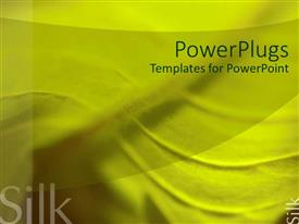 PowerPlugs: PowerPoint template with silk industry theme with close up of fabric