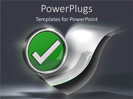 PowerPlugs: PowerPoint template with silver check mark to do list paper metaphor planning strategy grey background