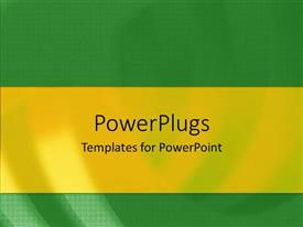 PowerPoint template displaying a simple green background with place for text