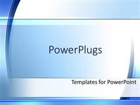 PowerPlugs: PowerPoint template with simple modern blue and white background fading