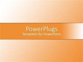 PowerPlugs: PowerPoint template with a simple orange background with place for text
