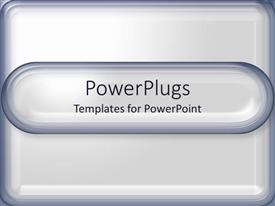 PowerPoint template displaying a simple template with place for text in middle