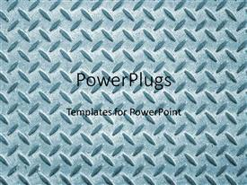 PowerPlugs: PowerPoint template with simple and sophisticated metal design for the background