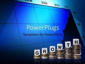 PowerPlugs: PowerPoint template with six stacks of silver coils and texts which spell out the word