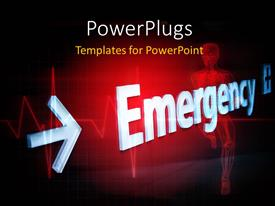 PowerPlugs: PowerPoint template with a skeleton with the word emergency